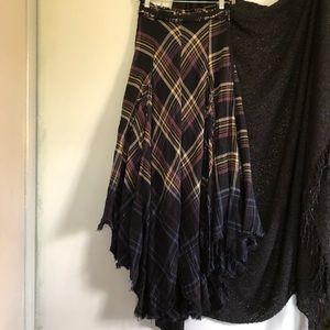 Free People Dipped in Dreams Plaid Maxi Skirt 4